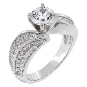 Solitaire with accent 2.50 ct. CVD diamonds Ring 1